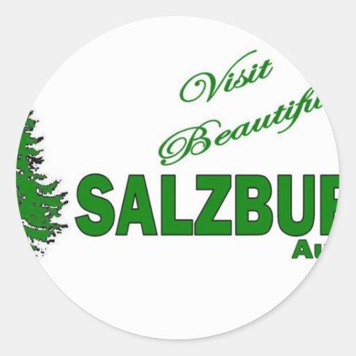 Visit Beautiful Salzburg, Austria Round Stickers