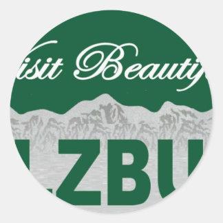 Visit Beautiful Salzburg Round Sticker