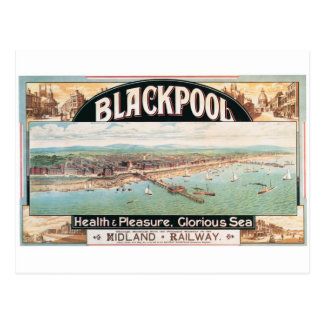 Visit Blackpool Poster Postcard
