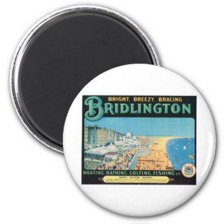 Visit Bridlington Vintage Poster 6 Cm Round Magnet