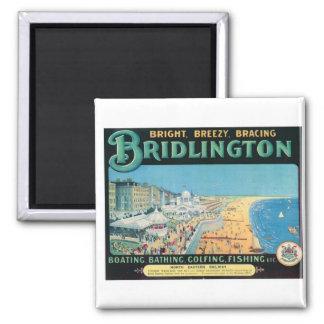 Visit Bridlington Vintage Poster Square Magnet