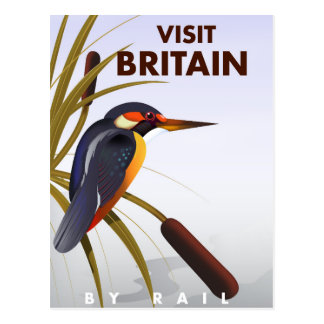 Visit Britain vintage travel poster. Postcard