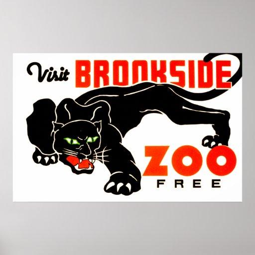 Visit Brookside Zoo Free Poster