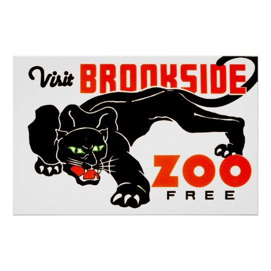 Visit Brookside Zoo Free Poster