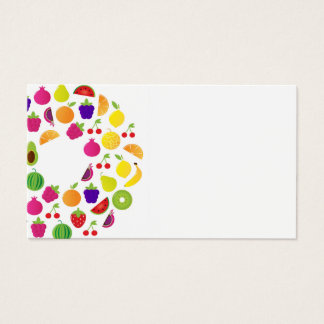 Visit card with  Fruit circle