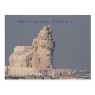 Visit Cleveland OH, It's Nice on Ice Postcard