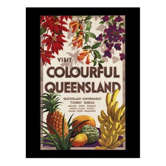 Visit colourful Queensland Postcard