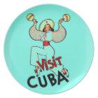 Visit Cuba Vintage Travel Plate
