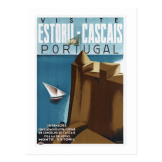 Visit Estoril Cascais Portugal Postcard