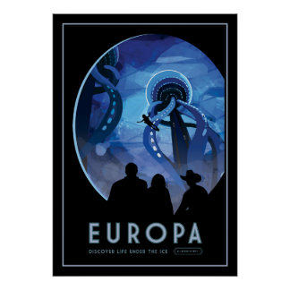 Visit Europa - Icy Moon of Jupiter Poster