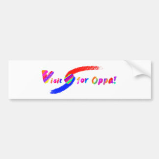 Visit for Oppa Bumper Sticker