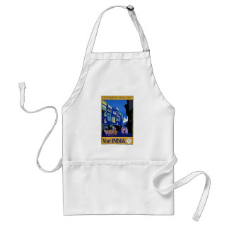 Visit India Asia Street by Moonlight Apron
