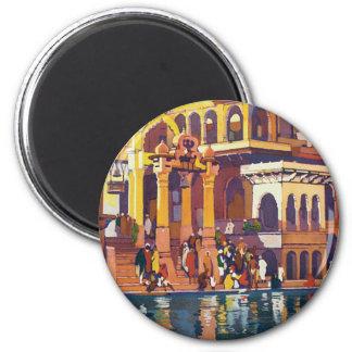 Visit India ~ Muttra 6 Cm Round Magnet