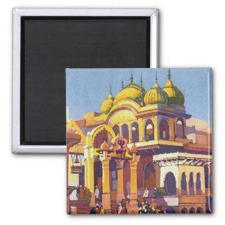 Visit India Muttra Square Magnet