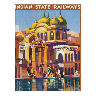 Visit India ~ Muttra Postcard
