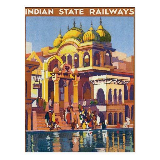 Visit India ~ Muttra Postcard