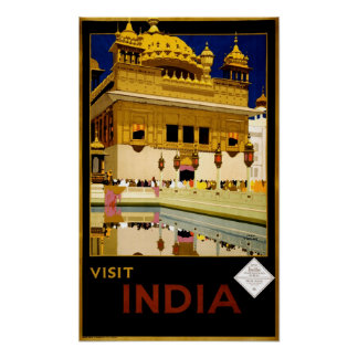 Visit India Vintage 1929 Travel Posters