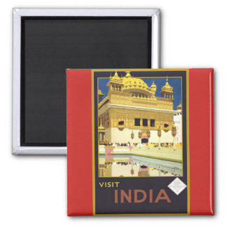 Visit India Vintage Poster Magnet