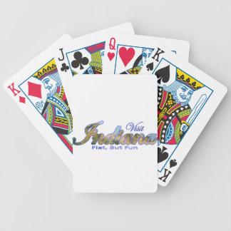Visit Indiana Flat But Fun Bicycle Poker Cards