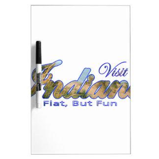 Visit Indiana, Flat But Fun Dry Erase Whiteboards