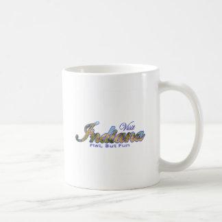 Visit Indiana, Flat But Fun Coffee Mug