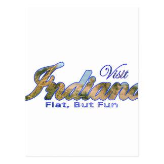 Visit Indiana, Flat But Fun Postcard