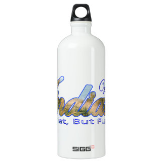 Visit Indiana, Flat But Fun SIGG Traveler 1.0L Water Bottle