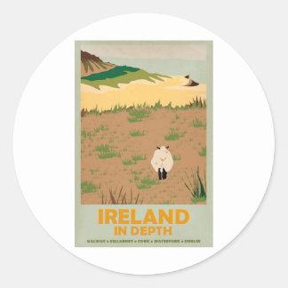 Visit Ireland Vintage Travel Poster Classic Round Sticker