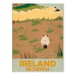 Visit Ireland Vintage Travel Poster Postcard