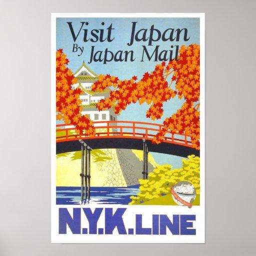 Visit Japan By Mail N.Y.K. Lines Poster