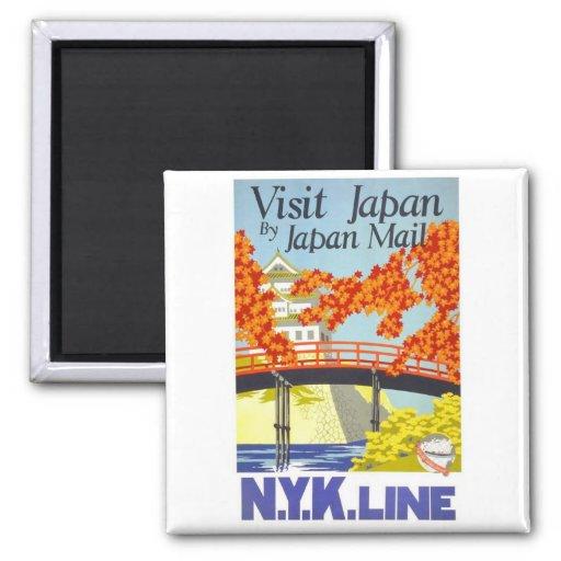 Visit Japan By Mail - N.Y.K. Lines Square Magnet