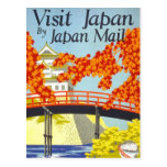 Visit Japan Vintage Travel Art Post Cards