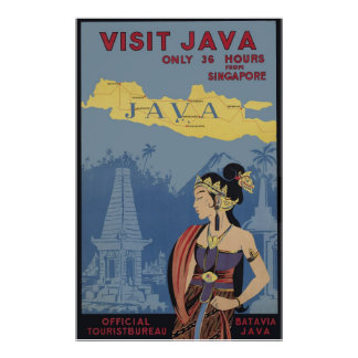 Visit Java Only 36 hours from Singapore Poster