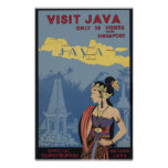 Visit Java Only 36 hours from Singapore Posters