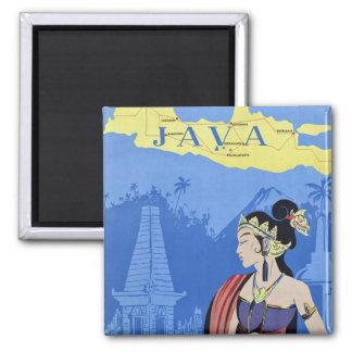Visit Java Square Magnet