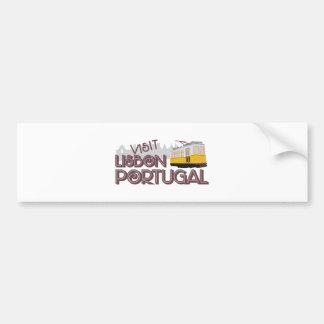 Visit Lisbon Portugal Bumper Sticker