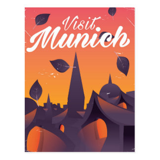 Visit Munich Germany travel poster Postcard