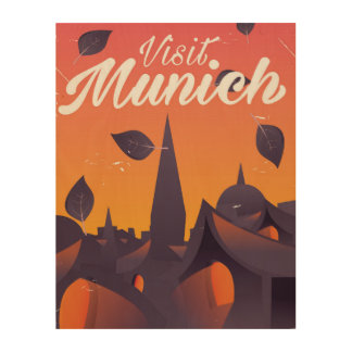 Visit Munich Germany travel poster Wood Canvases