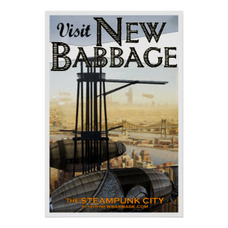 Visit New Babbage (No. 4) Poster
