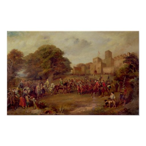 Visit of James I to Houghton Tower Print