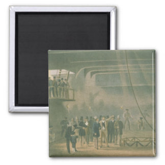 Visit of the Prince of Wales to the SS Great Easte Square Magnet