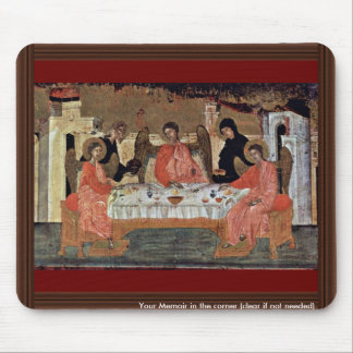 Visit Of The Three Angels With Abraham And Its Hos Mouse Pad