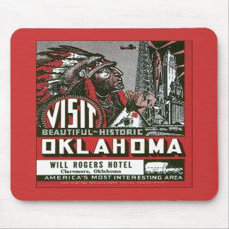 Visit Oklahoma OK USA Vintage Mouse Pad