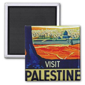 Visit Palestine Square Magnet