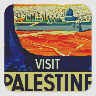 Visit Palestine Square Sticker