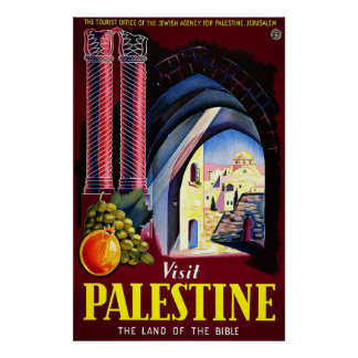 Visit Palestine The Land Of The Bible Poster