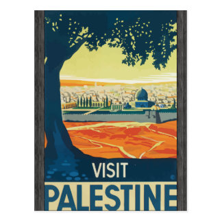 Visit Palestine, Vintage Postcard