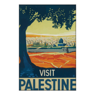 Visit Palestine, Vintage Poster