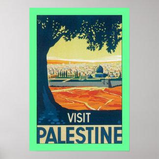 Visit Palestine w/green border Poster