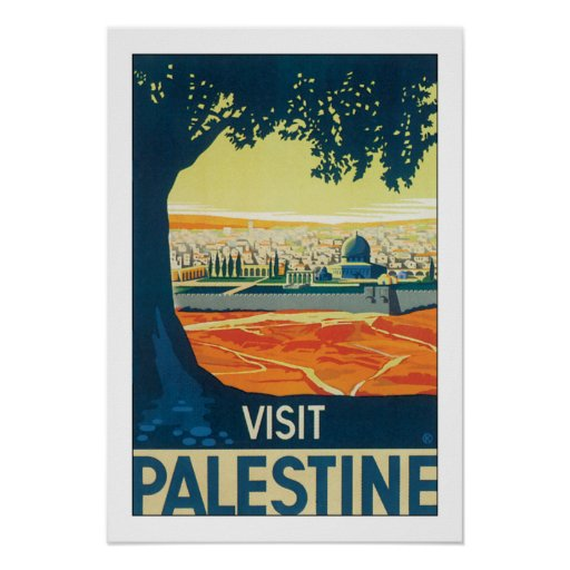 Visit Palestine w/white border Posters